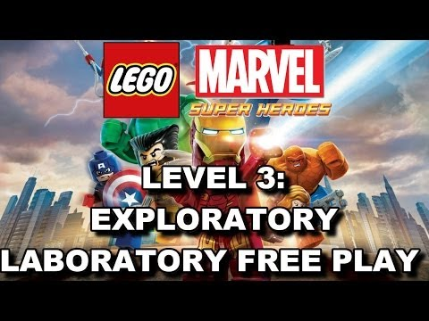 LEGO Marvel Super Heroes: Lvl 3 Exploratory Laboratory FREE PLAY (All Minikits & Stan Lee in Peril)