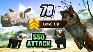 Level Up to 78 Without VIP \u0026 550 Attack | 23K 💎 ☾ The Wolf Online Simulator 2021