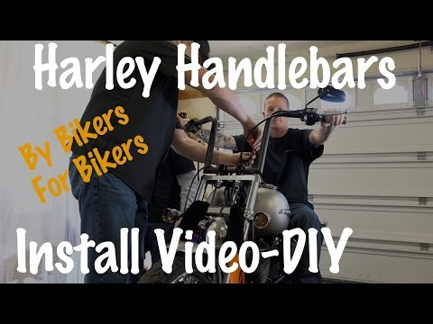 Install Handlebars Harley Softail, Dyna, Sportster, Touring | Extend Wired & Cables