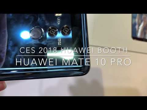 Huawei Mate 10 Pro Hands on CES 2018