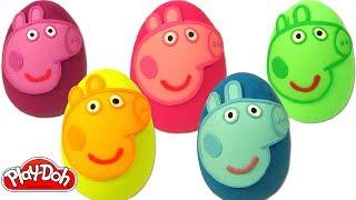 Aprende los Colores con Huevos Sorpresas de Peppa Pig Plastilina Play Doh