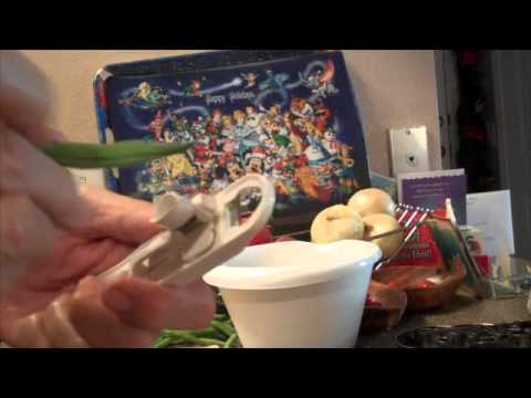How to French Cut  String Beans