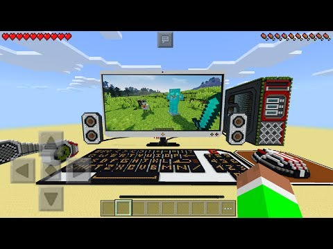 GIANT WORKING COMPUTER in Minecraft Pocket Edition (No Mods)