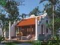 Mẫu thiết kế nhà thờ họ, dự toán nhà thờ họ tại Nho Quan Ninh Bình NDNTH15