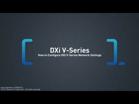 DXi V-Series Network Configuration Overview