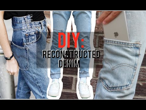 Reconstructed Denim! (Tutorial, Vetements/Off White style)