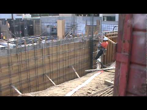 Formwork for concrete wall