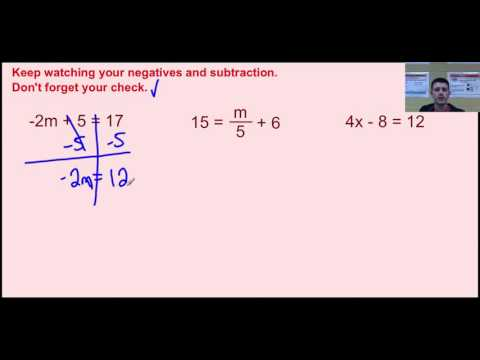 Solving Two Step Equations Video