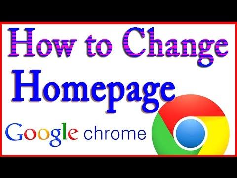 How to Change Homepage on Google Chrome 2015