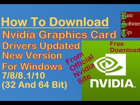 How To Free Download Nvidia Graphics Drivers Latest Version(From Official Website)Windows 7/8/8.1/10