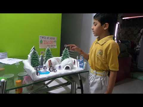 SCIENCE PR0JECT  TYPES OF HOUSE IGLOO PRACTICING FOR SCIENCE EXHIBITION (DURVIL)