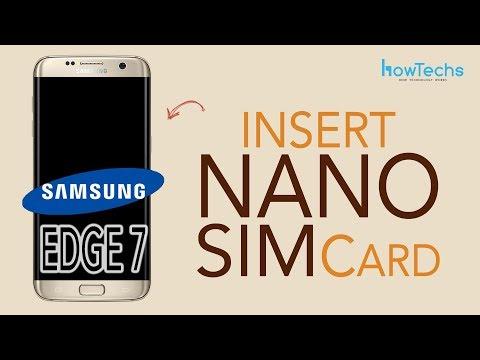 Samsung Galaxy Edge 7 - How to Insert SIM Card