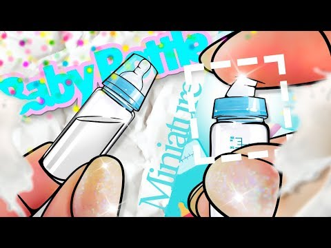 Miniature Baby Bottle DIY (actually works!) | DollHouse DIY | No Polymer Clay!