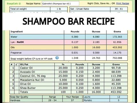 *108* Shampoo Bar Recipe