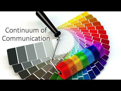 Continuum of Communication