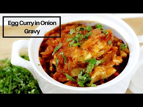 Egg Curry Recipe in Hindi - Egg Curry in Onion Gravy - Dhaba Style Anda Masala