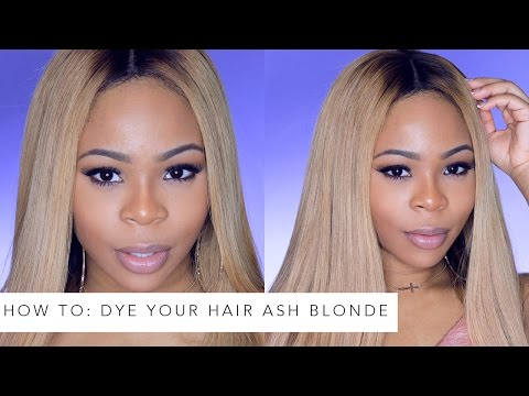 How To Dye Your Hair Ash Blonde ft Iwishhair
