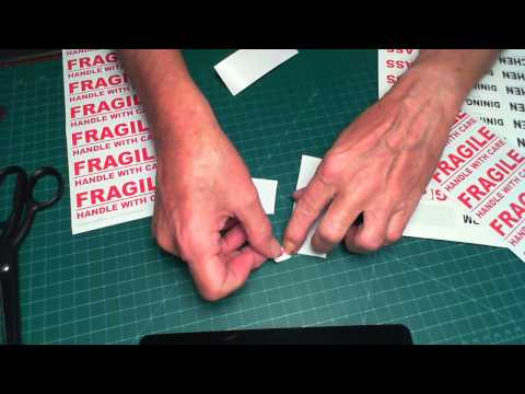 How to Remove Backing Sheet from Label Paper