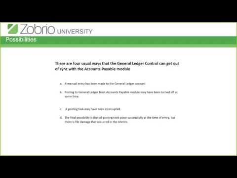 Zobrio University: Reconciling Accounts Payable To The General Ledger In Fundware