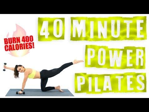 40 Minute Power Pilates Workout 🔥Burn 400 Calories! 🔥