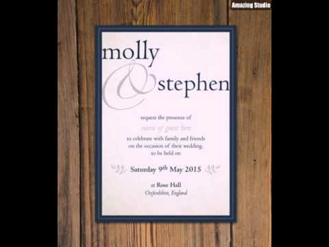 Create Beautiful Wedding Invitation DIY