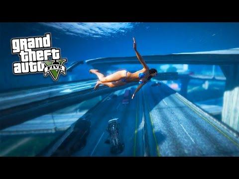 GTA 5 PC Mods - TSUNAMI MOD GAMEPLAY!!! BIG WAVES, NO WATER
