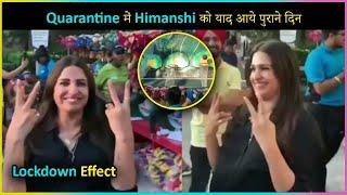 Himanshi Khurana MISS Her Good Old Days In Quarantine | Playing Basketball