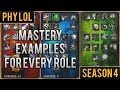 Season 4 Mastery Examples for Every Role | League of Legends