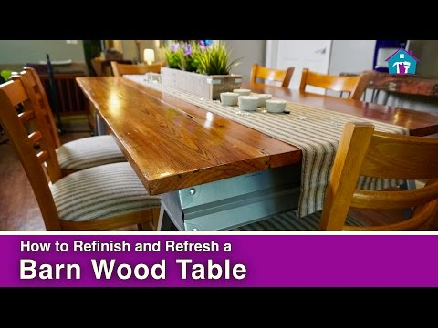How to Refinish a Barn Wood Table
