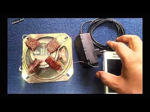 Free Energy Generator In Speaker Magnet With mobile 5V , 99% work