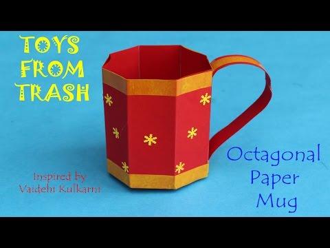 Octagonal Paper Mug | English
