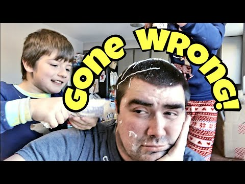 Gingerbread House Making Goes Wrong - Kids Try To Make A Gingerbread House On Daddy's Head