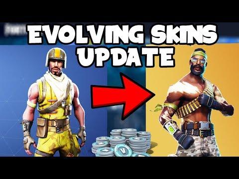 *NEW* EVOLVING SKINS & CUSTOM SKINS Coming To Fortnite Battle Royale! (Evolving Skins)