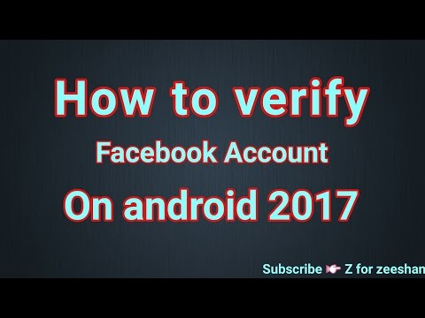 How to Verify Facebook Account From Mobile Urdu Hindi Tutorial 2017-18