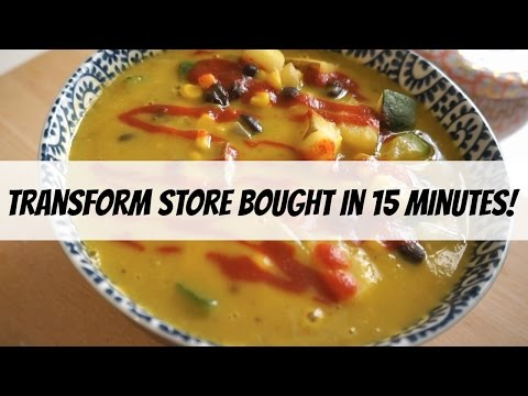 How to Transform Store-Bought Soup into a Delicious VEGAN Meal in 15 Minutes! MissVranHalen
