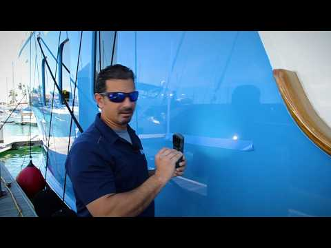 How to Apply Ceramic Coating to a Yacht - Blue Paint