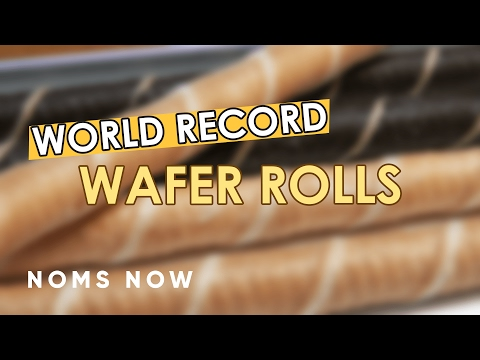 The World's Longest Wafer Rolls Unboxing