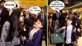 Karishma Kapoor SHOUTS & Forces Son Kiaan To Pose For Media At Mumbai Airport