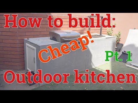 DIY: HOW TO BUILD A BBQ KITCHEN ISLAND   CHEAP! COMBINING WOOD BURNING AND GAS GRILLS