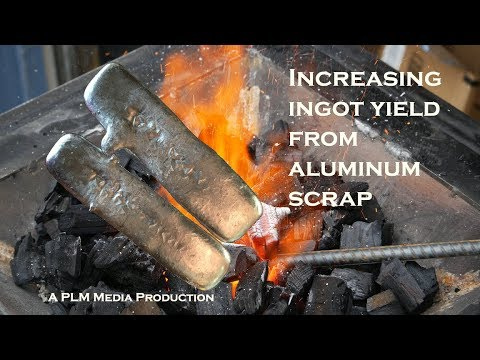 Increasing ingot yield from aluminum scrap