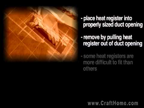 Installing your new floor register -- crafthome.com