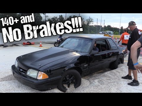 His Brakes Failed at 145 MPH! Stock Bottom End 302 FULL SEND