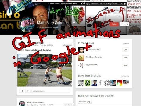 Share GIF Animations with Google Plus