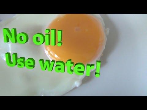 如何用水煎蛋 How to Fry Egg with WATER