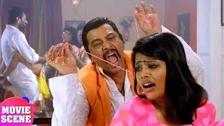 दुबेजी के बेटी के साथ नेताजीने क्या किया | जरूर देखिये | Bhojpuri Movie Scene