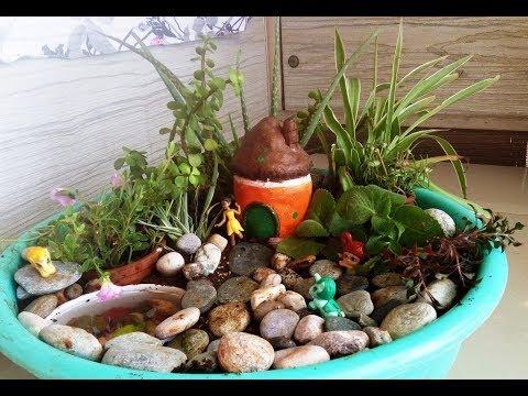 Beautiful Tub Garden | A small garden idea for balcony