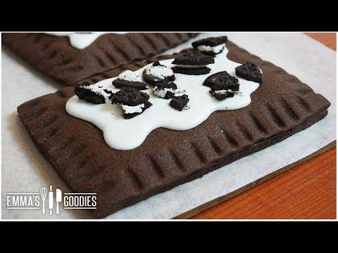 Homemade Cookies & Cream Pop Tarts - Chocolate Oreo Pop Tarts