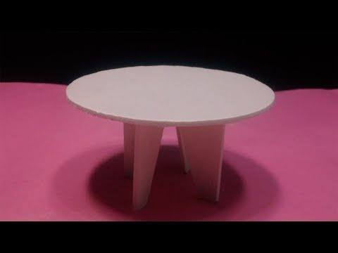 DIY How to Make Miniature Dining Table