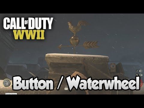 COD WW2 Zombies The Final Reich - Easter Egg Step 3 (Yellow Button / Waterwheel)