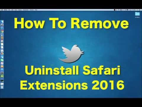 How To Uninstall remove Safari Extensions 2016 Under 40 seconds